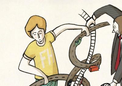 Illustrationsserie – Lebensraum & Technik