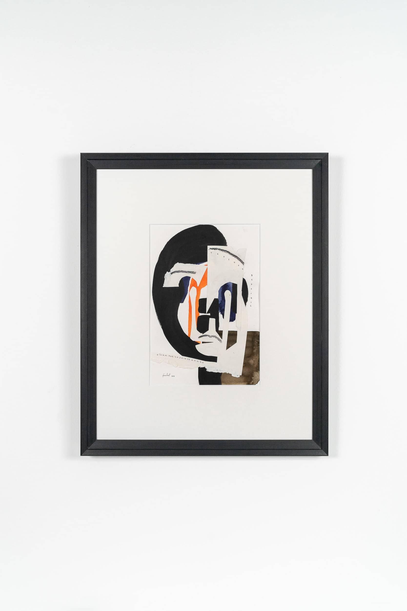 EG01 Gesicht 01 40 × 50 cm Tusche / Papierschnitt / Papier 2013