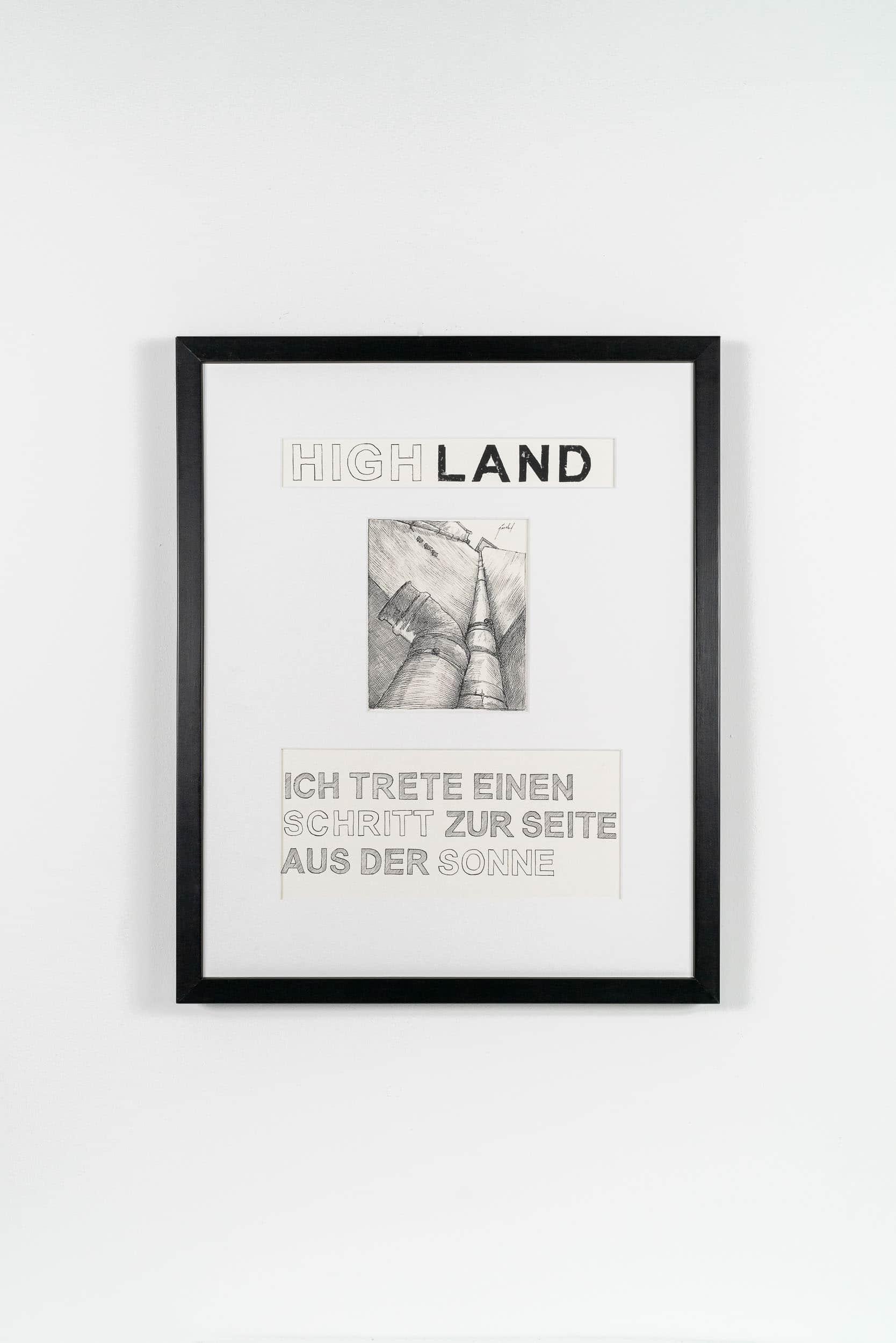 FL01 Highland 40 × 50 cm Papier / Tusche / Holzdruck 2013