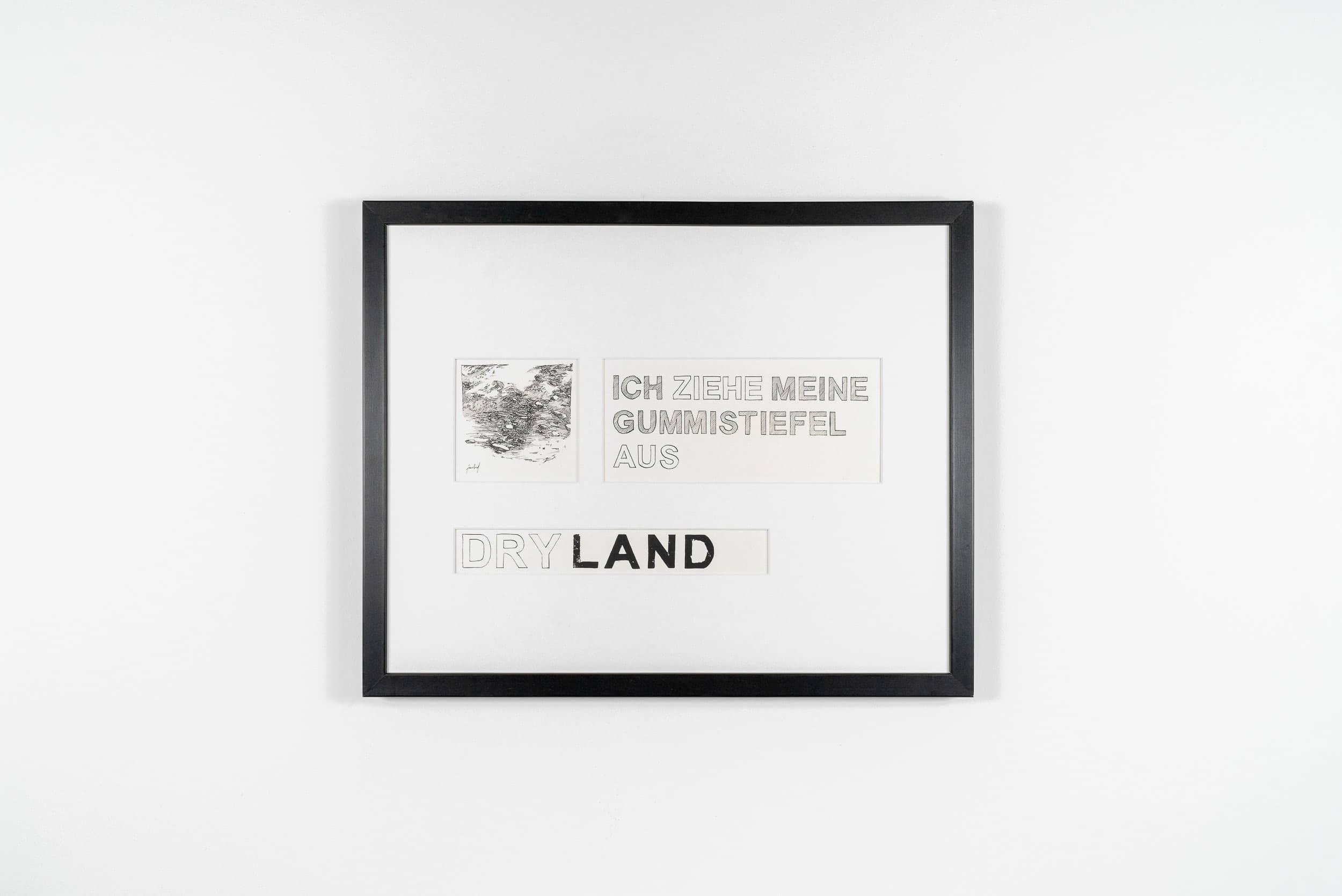 FL02 Dryland 50 × 40 cm Papier / Tusche / Holzdruck 2013