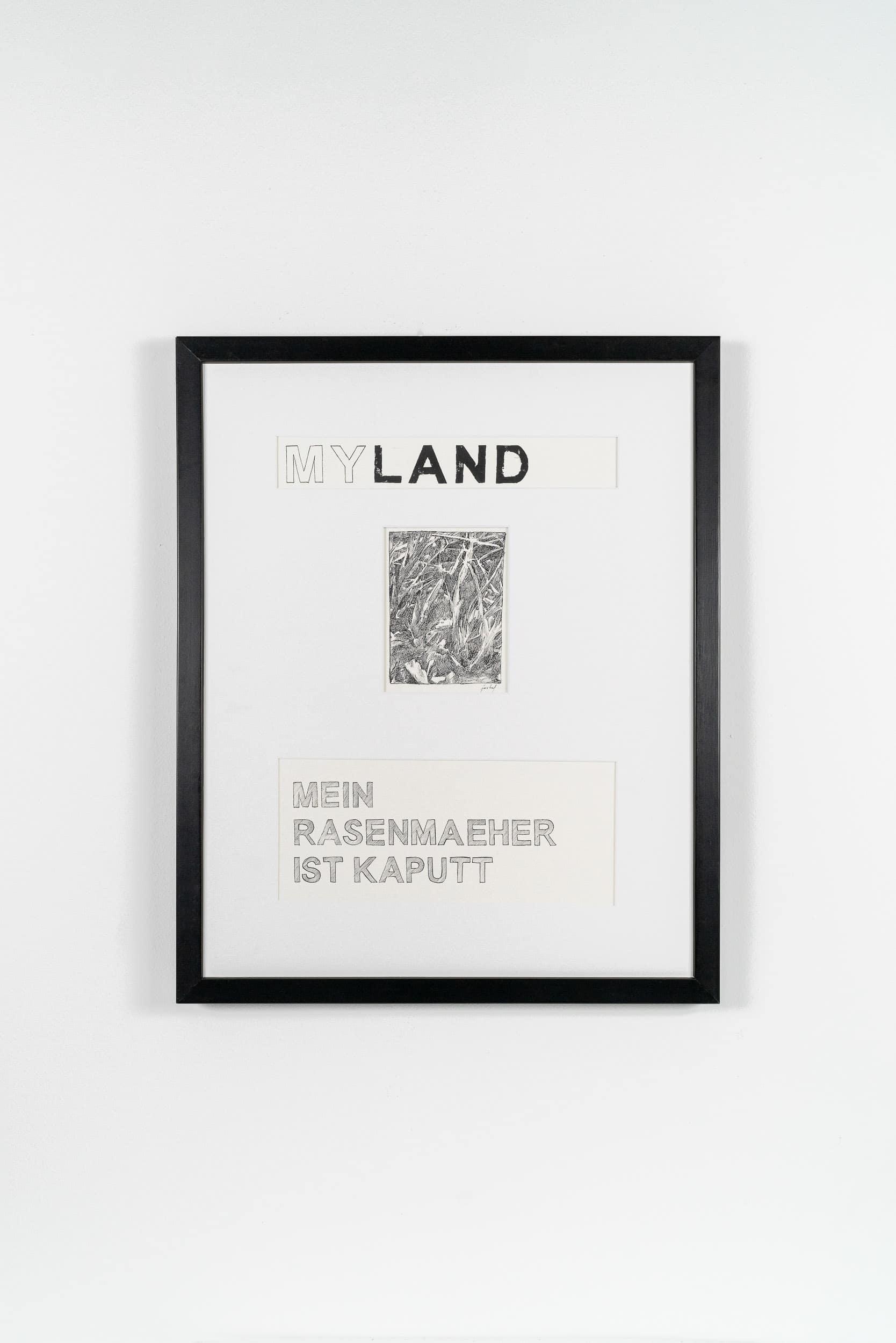 FL03 Myland 40 × 50 cm Papier / Tusche / Holzdruck 2013