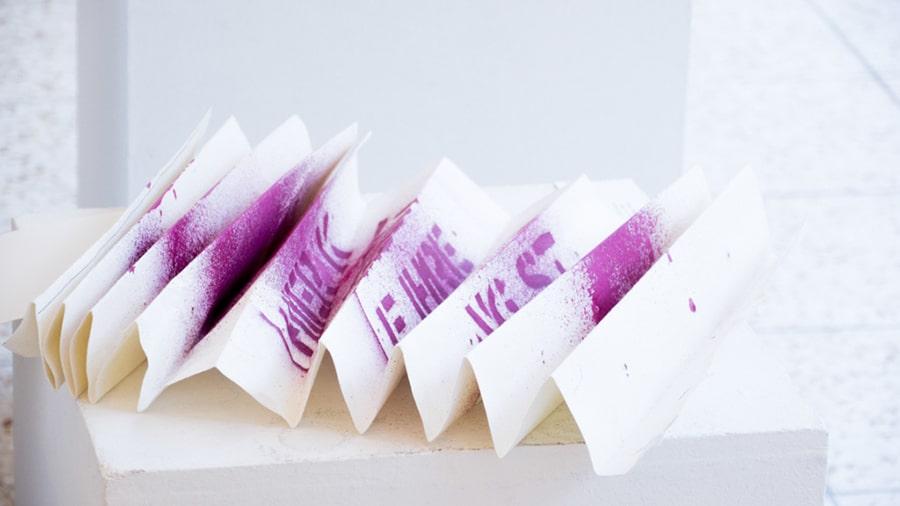 MS07 Bewerbungsanliegen 100 × 34 × 6 cm Papier / Tusche 2013