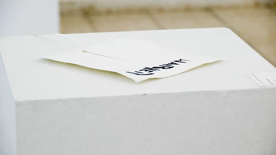 MS11 Wahrheit (Tautologie) 22 × 20 × 3 cm Papier / Tusche 2013