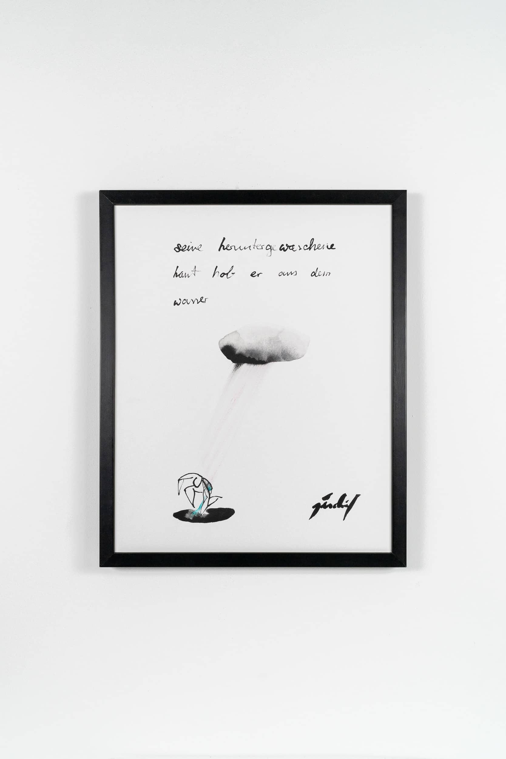 R04 Er und der Regen 04 40 × 50 cm Tusche / Gouache 2014