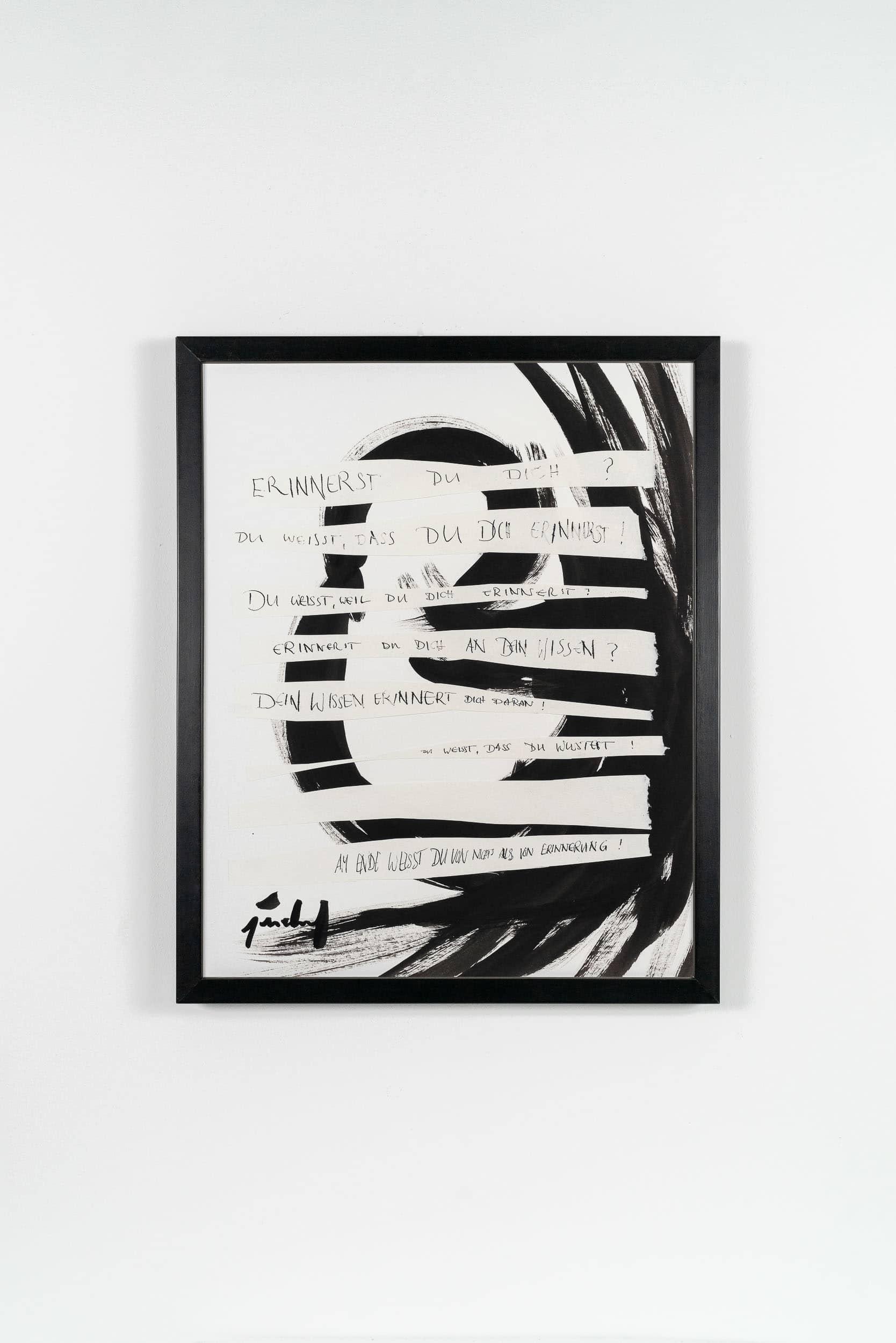 SiL04 Erinnerung 40 × 50 cm Tusche / Papier / Scherenschnitt / Text 2013 2 Wiederholung