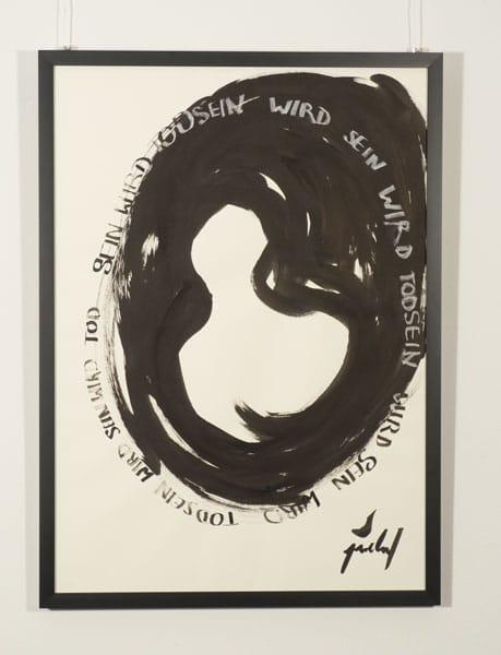 SiL08 TodSein 50 × 70 cm Tusche / Papier / Text 2013 2 Wiederholung