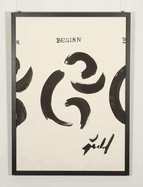 SiL09 Beginn 50 × 70 cm Tusche / Papier / Text 2013 2 Wiederholung