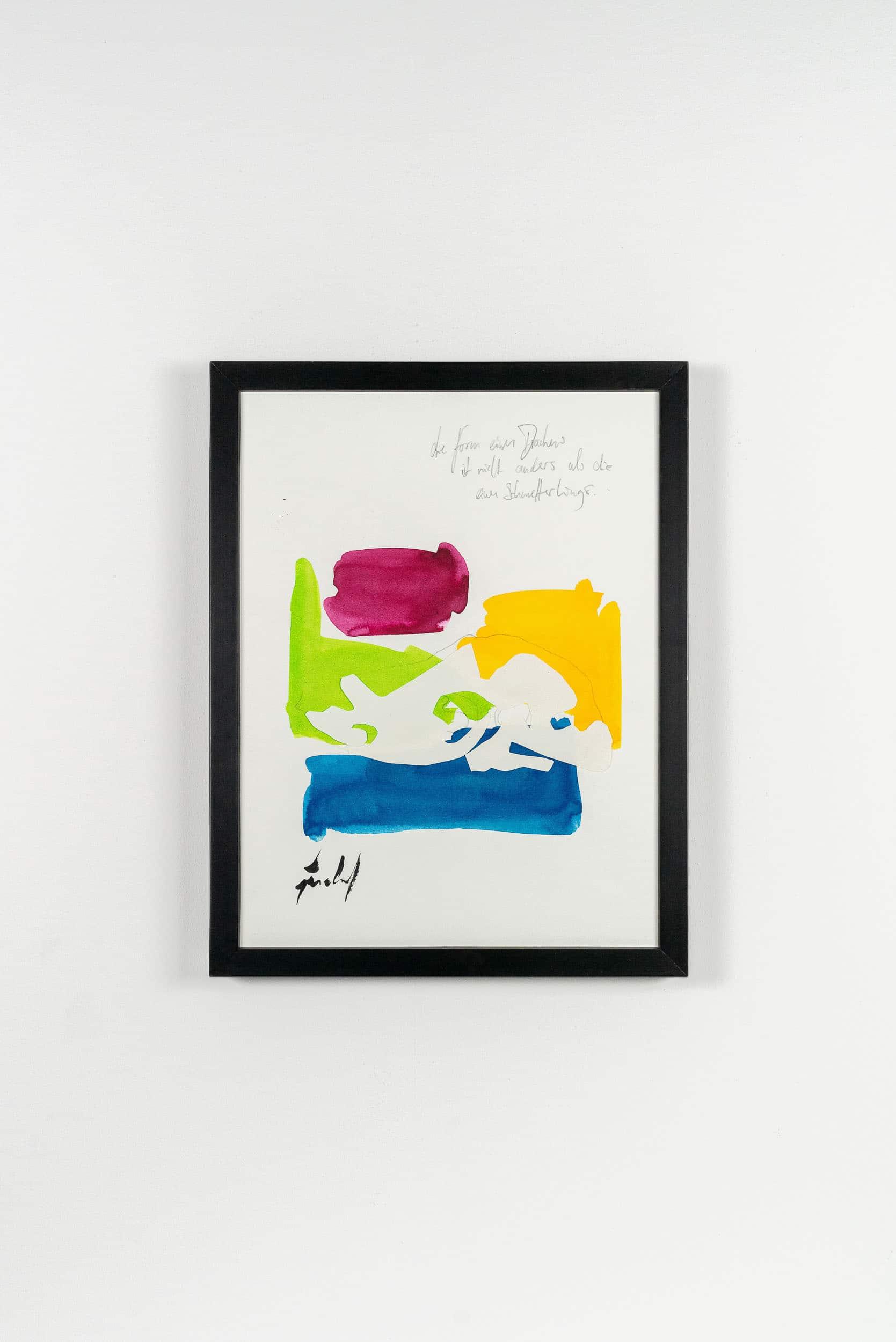 SiL21 Drache und Schmetterling 30 × 40 cm Tusche / Papier / Graphit / Scherenschnitt / Text 2013 5 Identisch