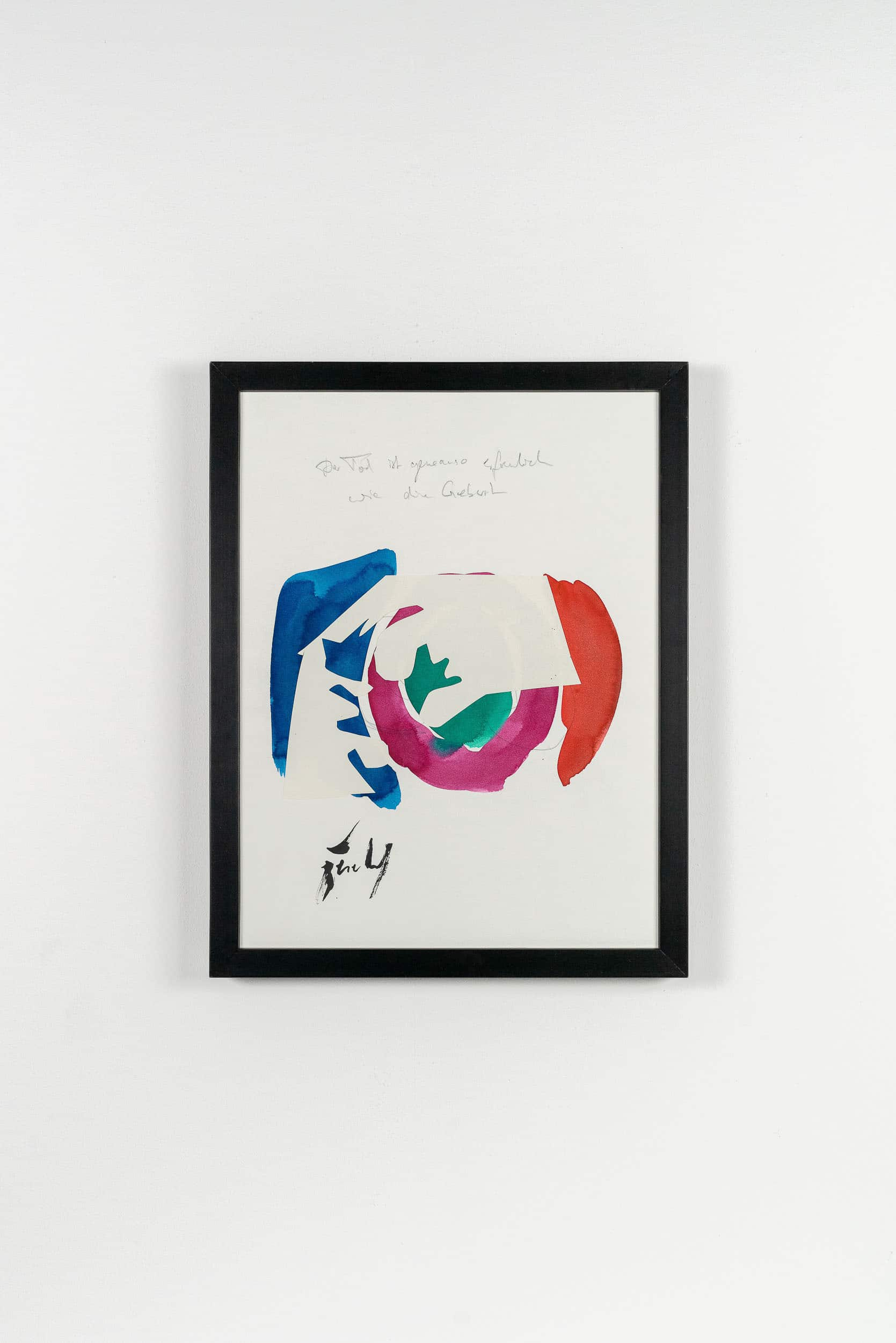 SiL24 Tod und Geburt 30 × 40 cm Tusche / Papier / Graphit / Scherenschnitt / Text 2013 5 Identisch