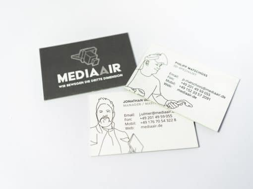 MEDIAAIR Logo und Illustration
