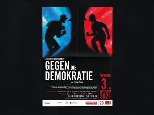 Gegen die Demokratie – Plakat